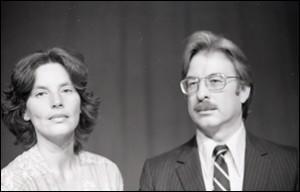 Nina Serrano and John Parkinson as Ethel and Julius, 1976