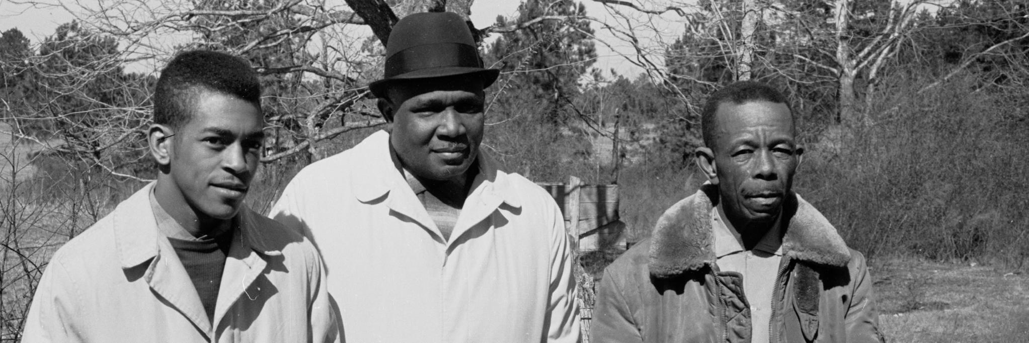 1963, Mississippi Voter Registration Activists Hollis Watkins, Amzie Moore, E.W. Steptoe,