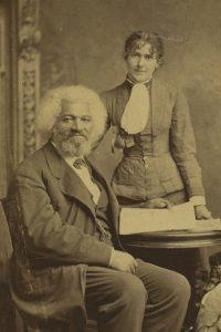 Frederick Douglass with his second wife, Helen.