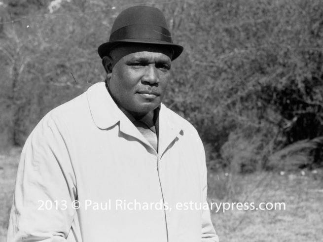 Amzie Moore on E.W. Steptoe's farm, 1963