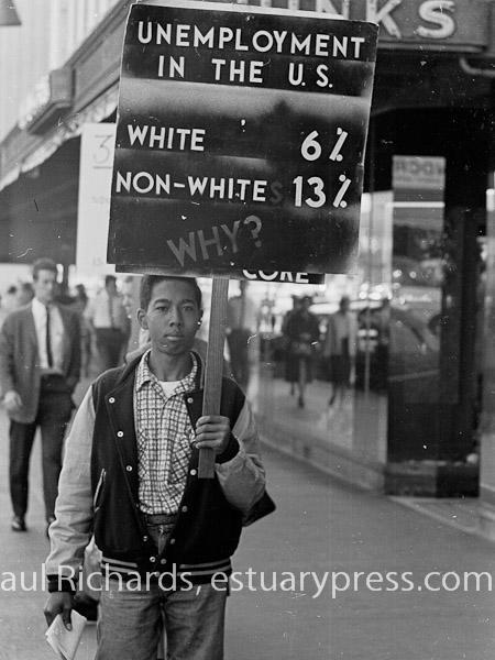 December, 1963, Berkeley, California.  CORE pickets Penny's Department Store