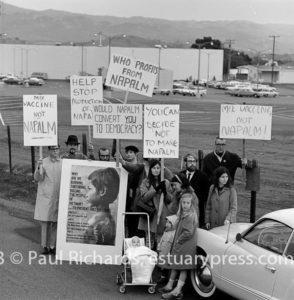 December, 1966, Napalm Protest at Port Chicago, California