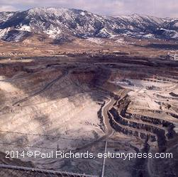 1973, the pit with Butte in the background.
