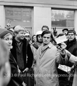 Public Draft Card Burning, Anti war movement images from Stop the Draft Week December 1967