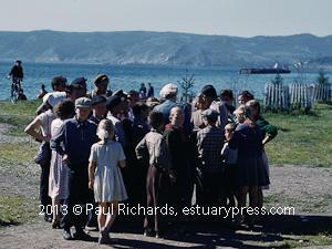 Ferry Ride and Farm, Lake Baikal, Siberia, Russia, 1961