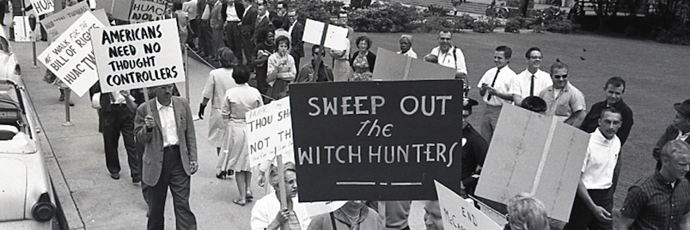 1962, Los Angeles, CA, demonstration to Abolish HUAC.