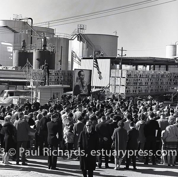 December, 1966, Port Chicago, CA.  Protesting napalm.