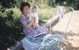 1961Moscow Woman Child Stroller T16 063 small