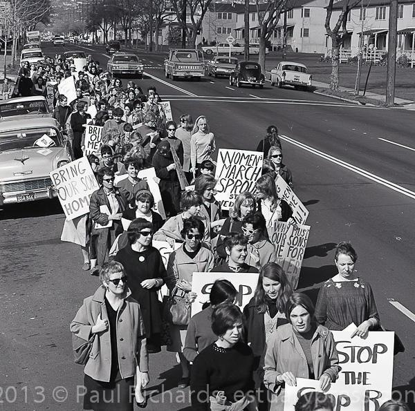 February 23, 1966, Women's march to the Oakland Army Induction Center.