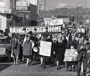 February, 1966, Berkeley Women Protest March to Draft Center