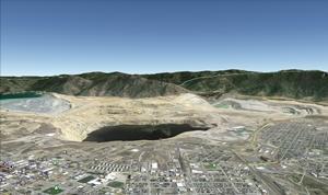 Butte Berkeley Pit Google Earth 2014