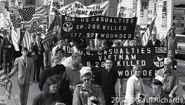 GI's March Against the War in Vietnam, October 12, 1968, San Francisco, CA