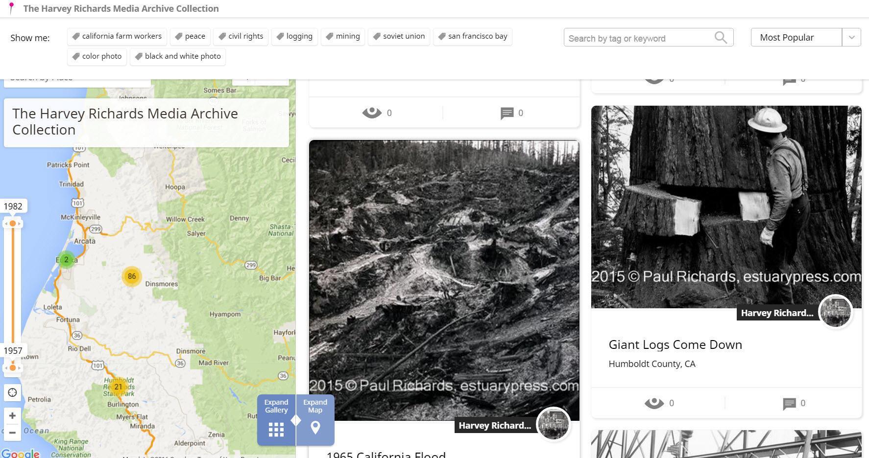 Historypin Northern Calif screengrab