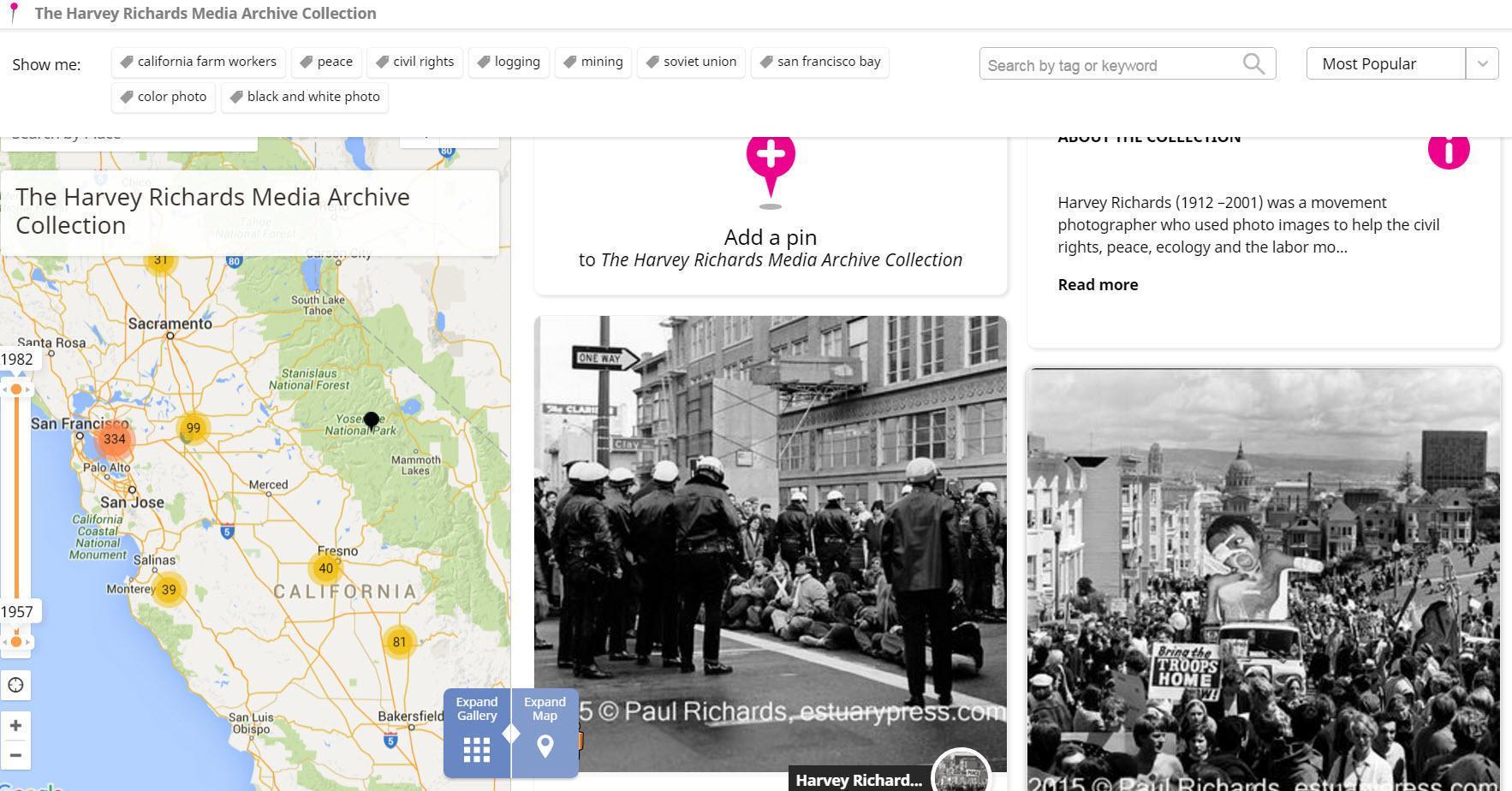 Historypin San Francisco screenshot