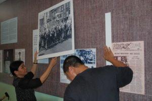 War Remnants Museum Exhibit in Ho Chi Minh City Putting up Photo by Harvey Richards