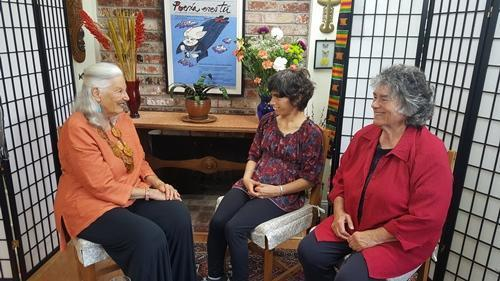 Nina Serrano with Dena And Becky Taylor discussing Tell Me the Number Before Infinity.