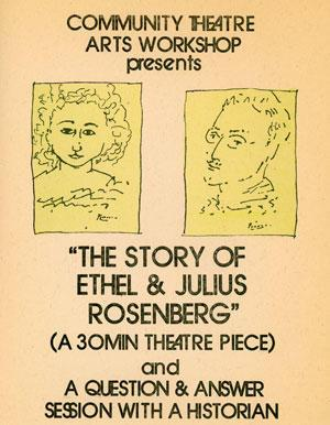 "Leaflet for the Play ""The Story of Ethel and Julius Rosenberg"","