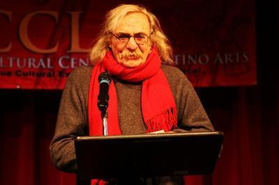 Jack Hirschman, San Francisco Poet Laureate, reading at Leap Forward Poetry Reading, February, 2012 (Leap Year)
