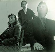"Production Still, 1976, ""The Story of Ethel and Julius Rosenberg"". Nina Serrano as Ethel, Joseph Ingala as Judge Kaufman, and John Parkinson as Julius."