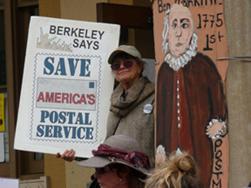 July 27, 2013, Berkeley, CA. Rally to Save the Post Office