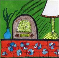 Radio, drawing by Nina Serrano