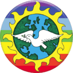 Universal Earth Peace Justice button image crop