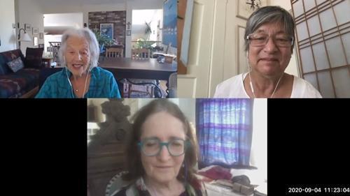 Nina Serrano, Diane Wang and Holly Alonso discuss renaming Peralta Hacienda.