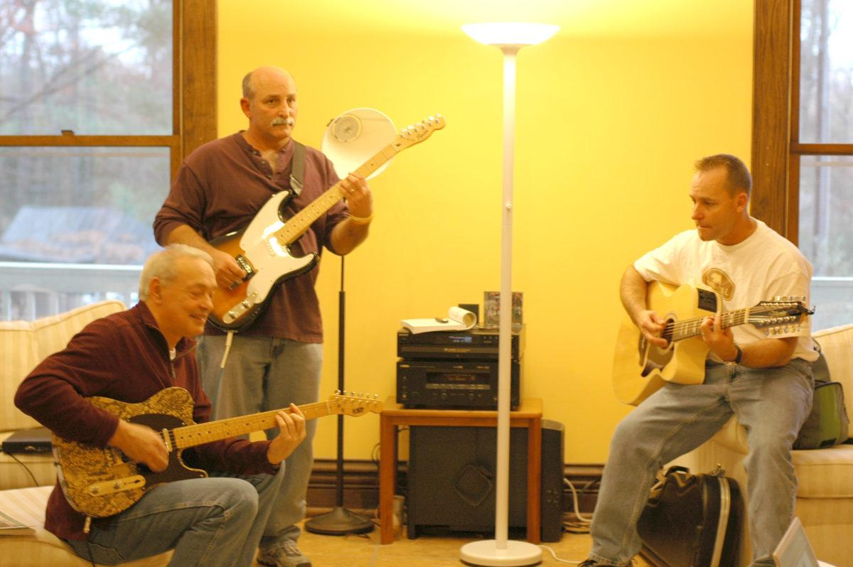 Philip John Serrano with sons Mark and Phil